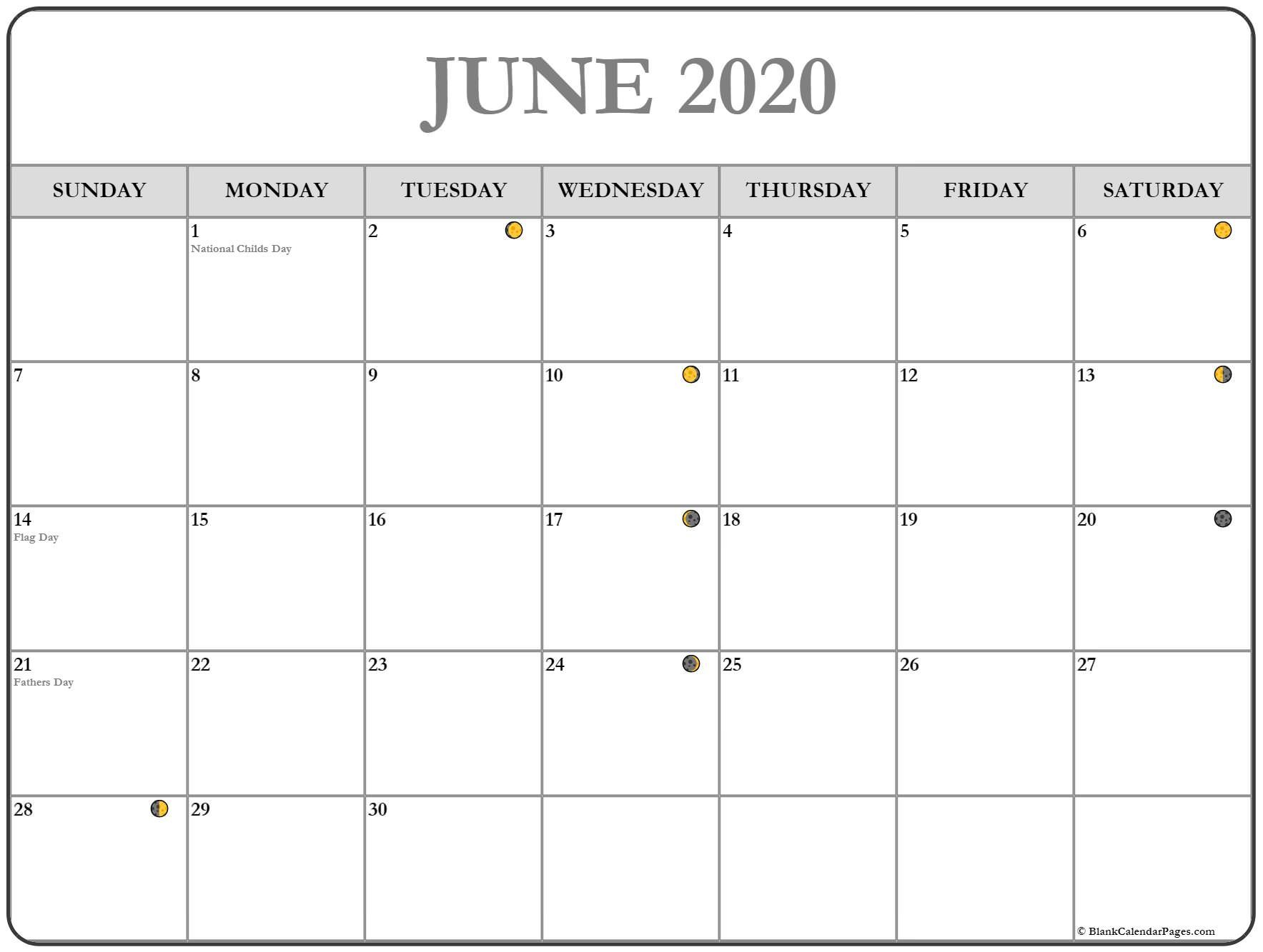 Get Free Printable Calendar With Moon Phases
