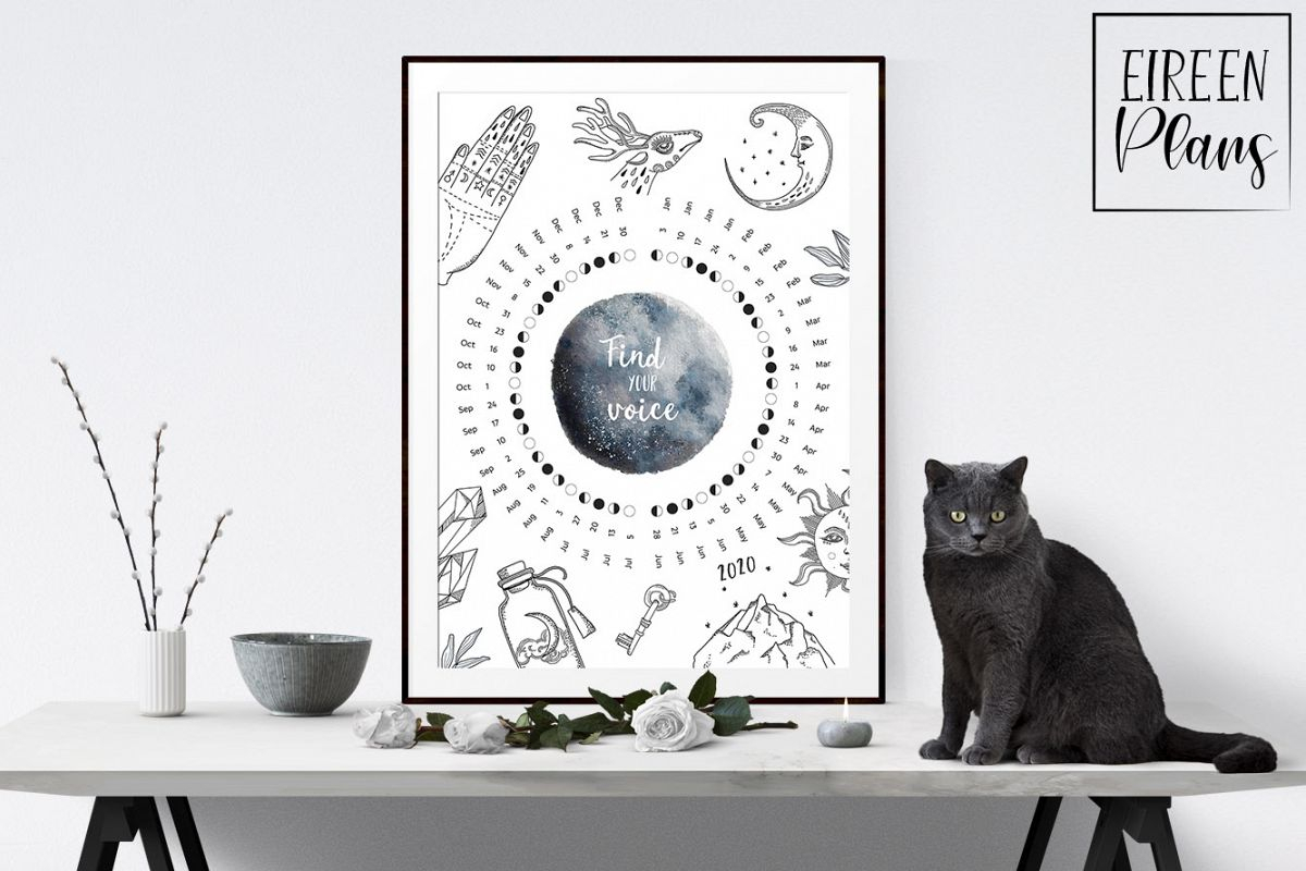 Collect Free Printable Moon Phases Calendar