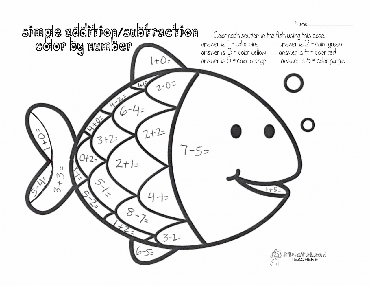 1st Grade Coloring Math Worksheets