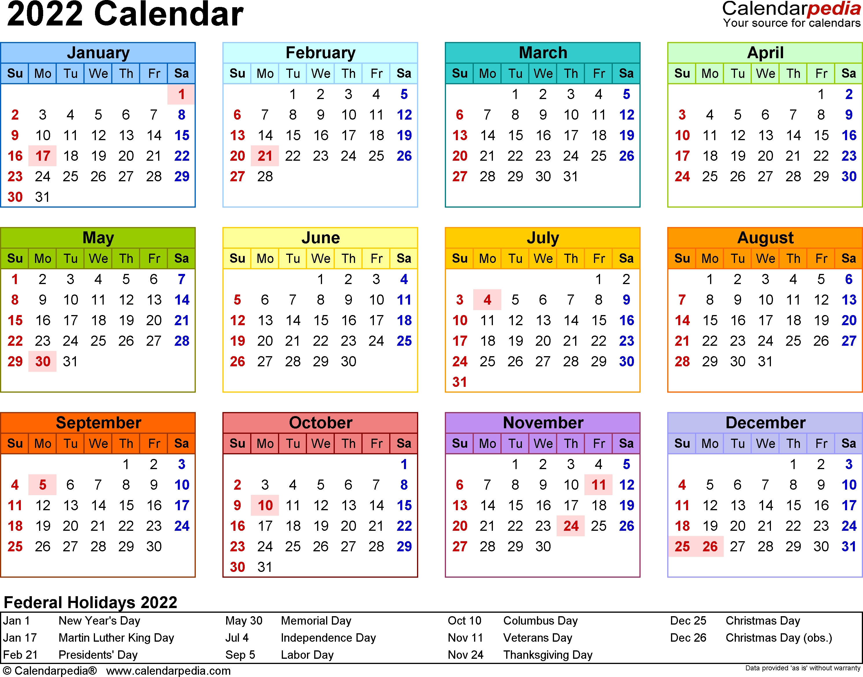 The calendar provides all the months of year, so that users can plan the each month in required manner. Calendar Year At A Glance - Calendar Inspiration Design