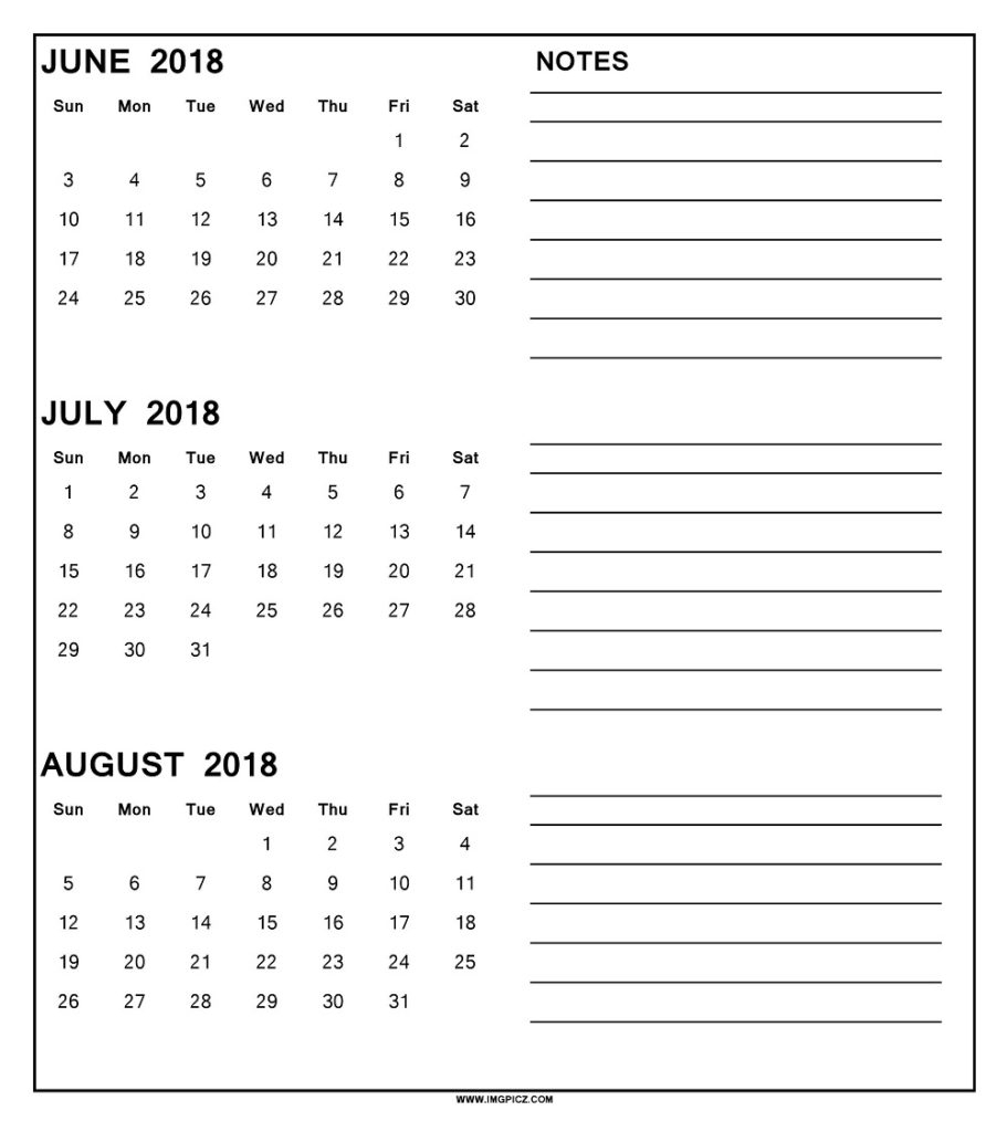 Printable 3 Month Calendar Templates - Calendar ...