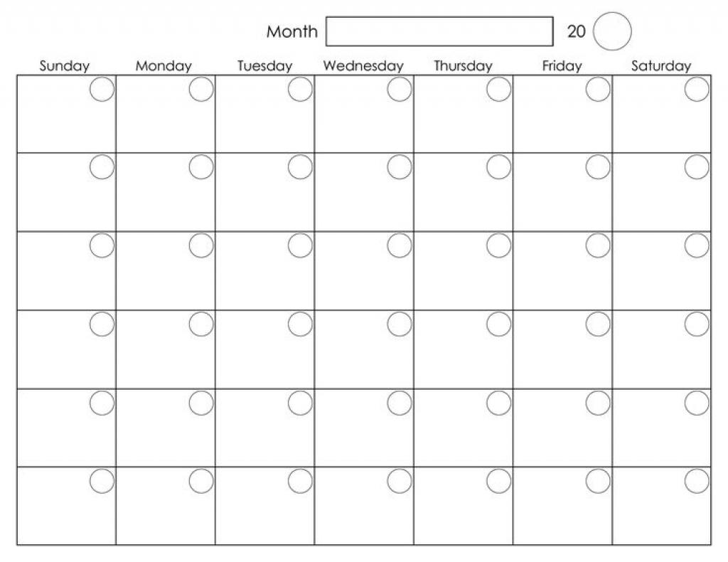 A3 Blank Calendar Monthly Template - Calendar Inspiration ...
