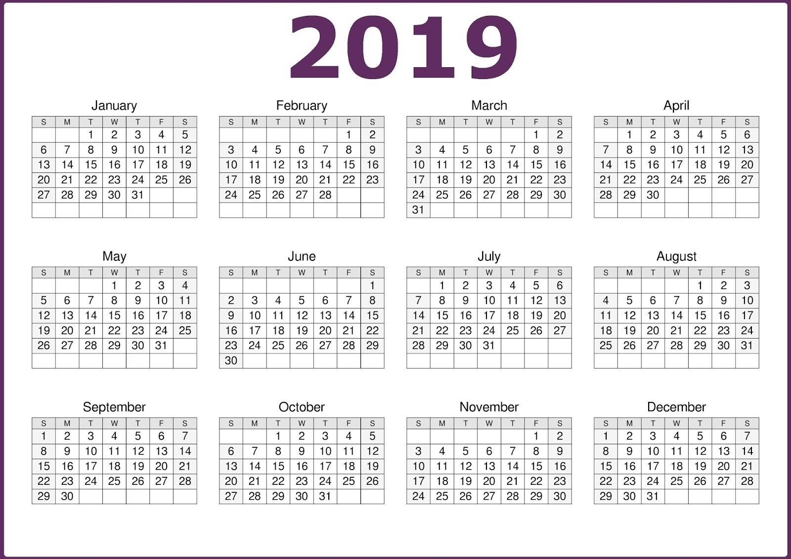 Find information about upcoming conferences, webinars, commemorative month activities, and other current events each month. 12 Month Calendar On One Page Template - Calendar ...