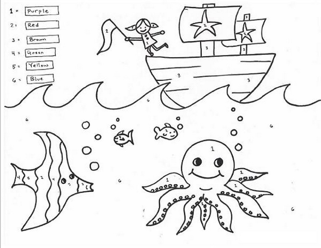 1st Grade Math Coloring Worksheets