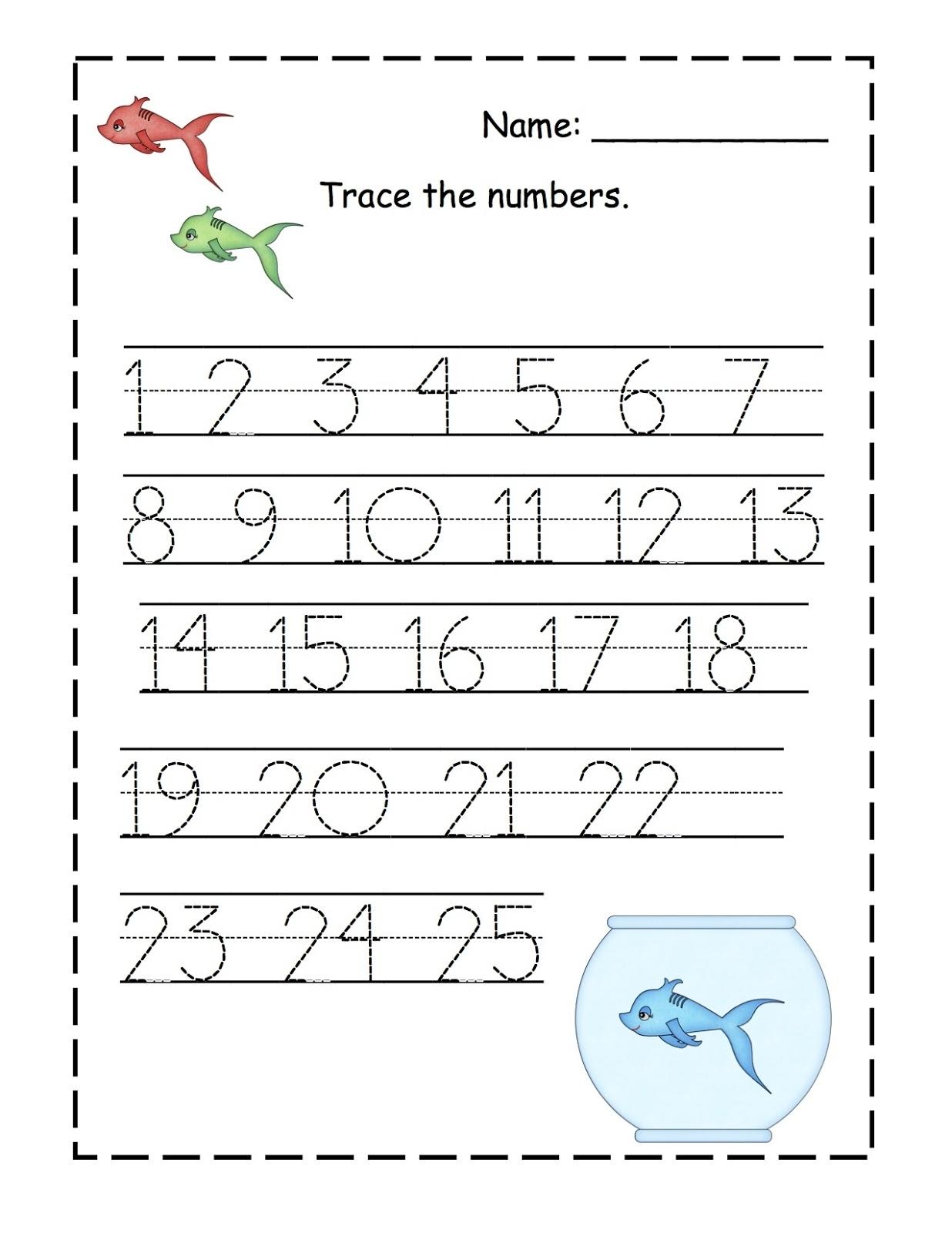 Printable Preschool Numbers 1 31
