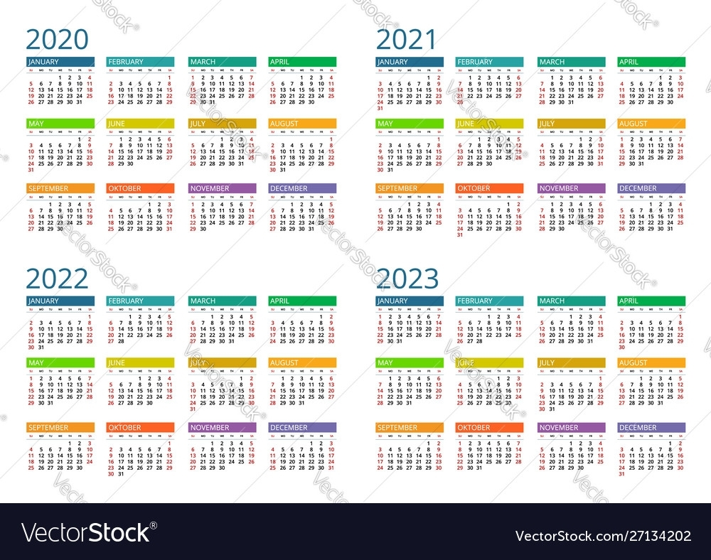 2021 And 2022 And 2023 Calendar Printable - Calendar ...