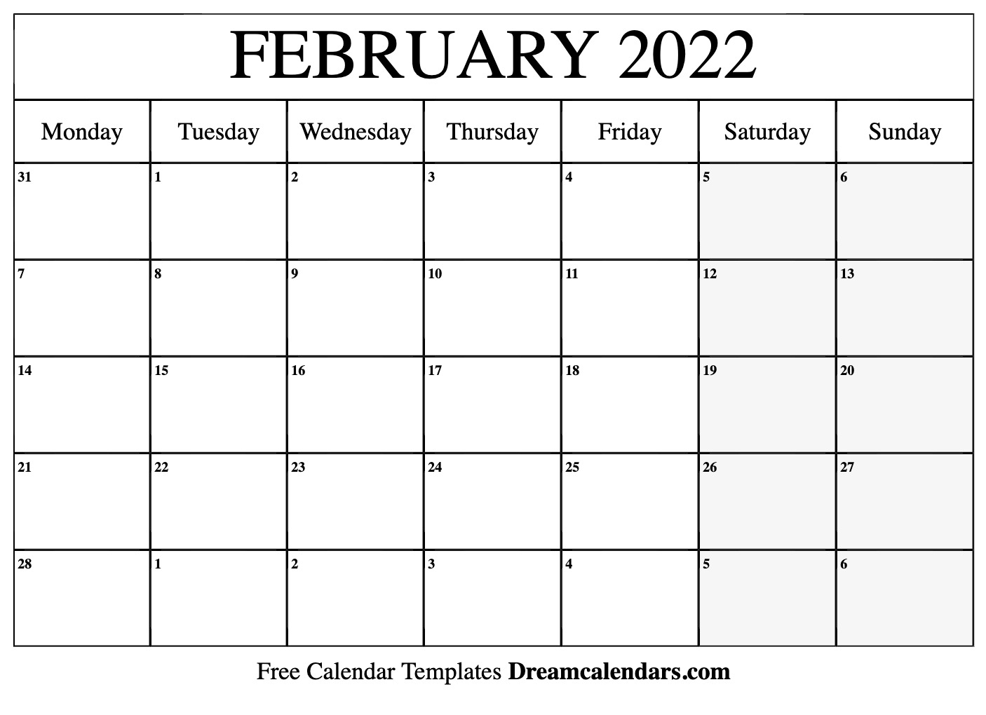 Printable Calendar Sunday Through Saturday | Calendar ...