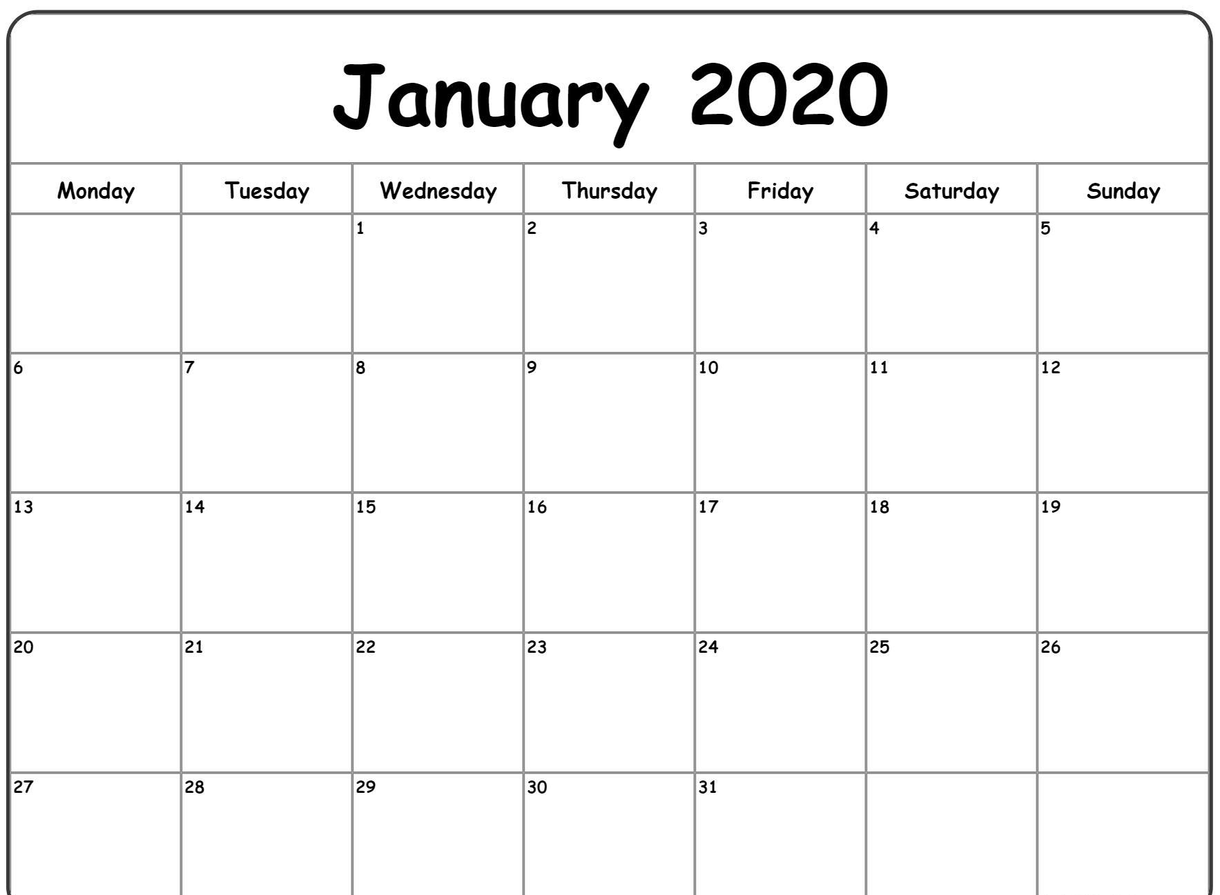 After the festive holiday season, the cold, bleak days of winter can see. Print Calendar 2020 January   Calendar Printables Free ...