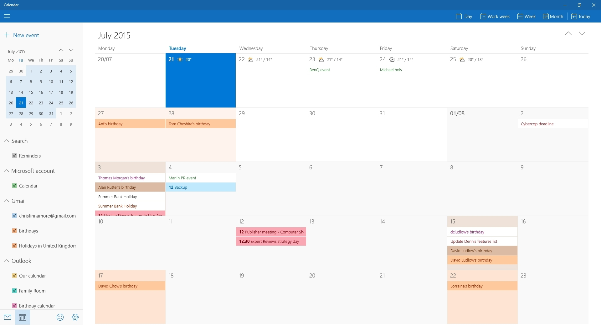 Windows 7 Calendar Week Number Gadget