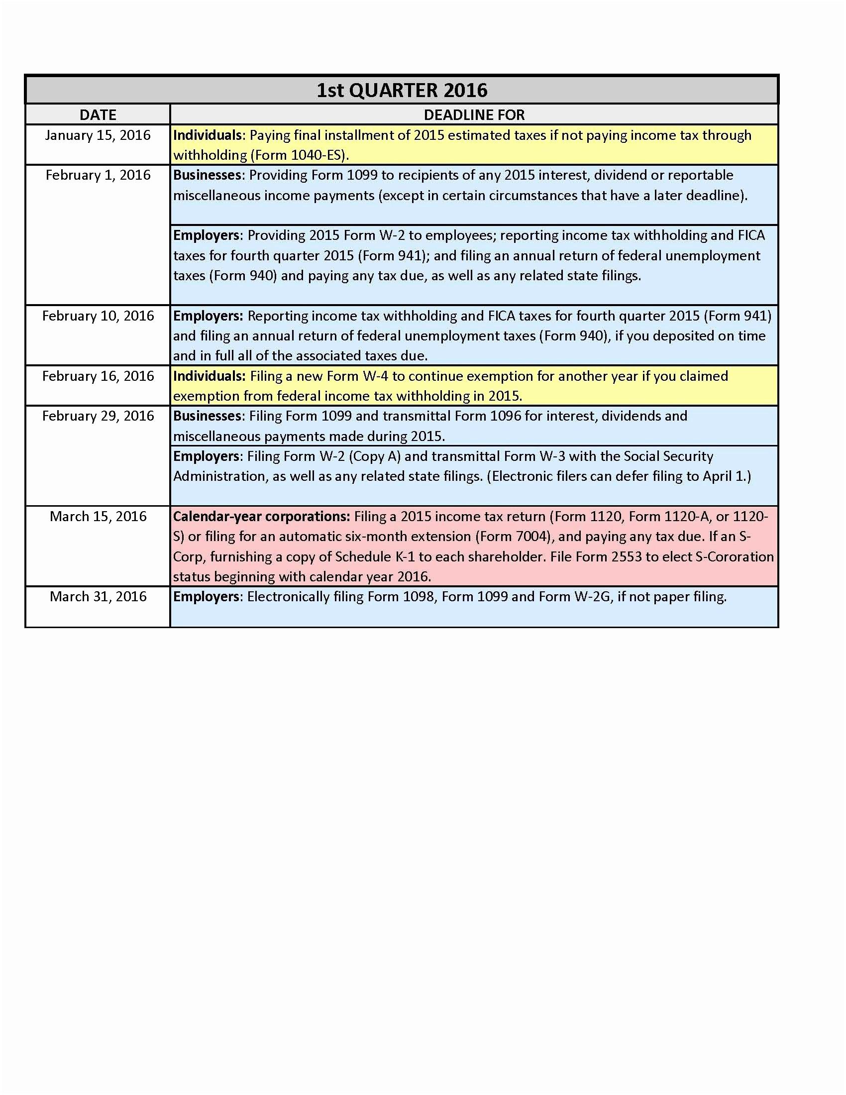 March Calendar Events