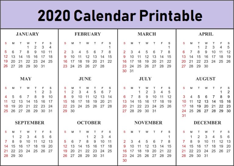2020 Free Printable Calendar.Free 2020 Printable Calendar Templates Create Your Own