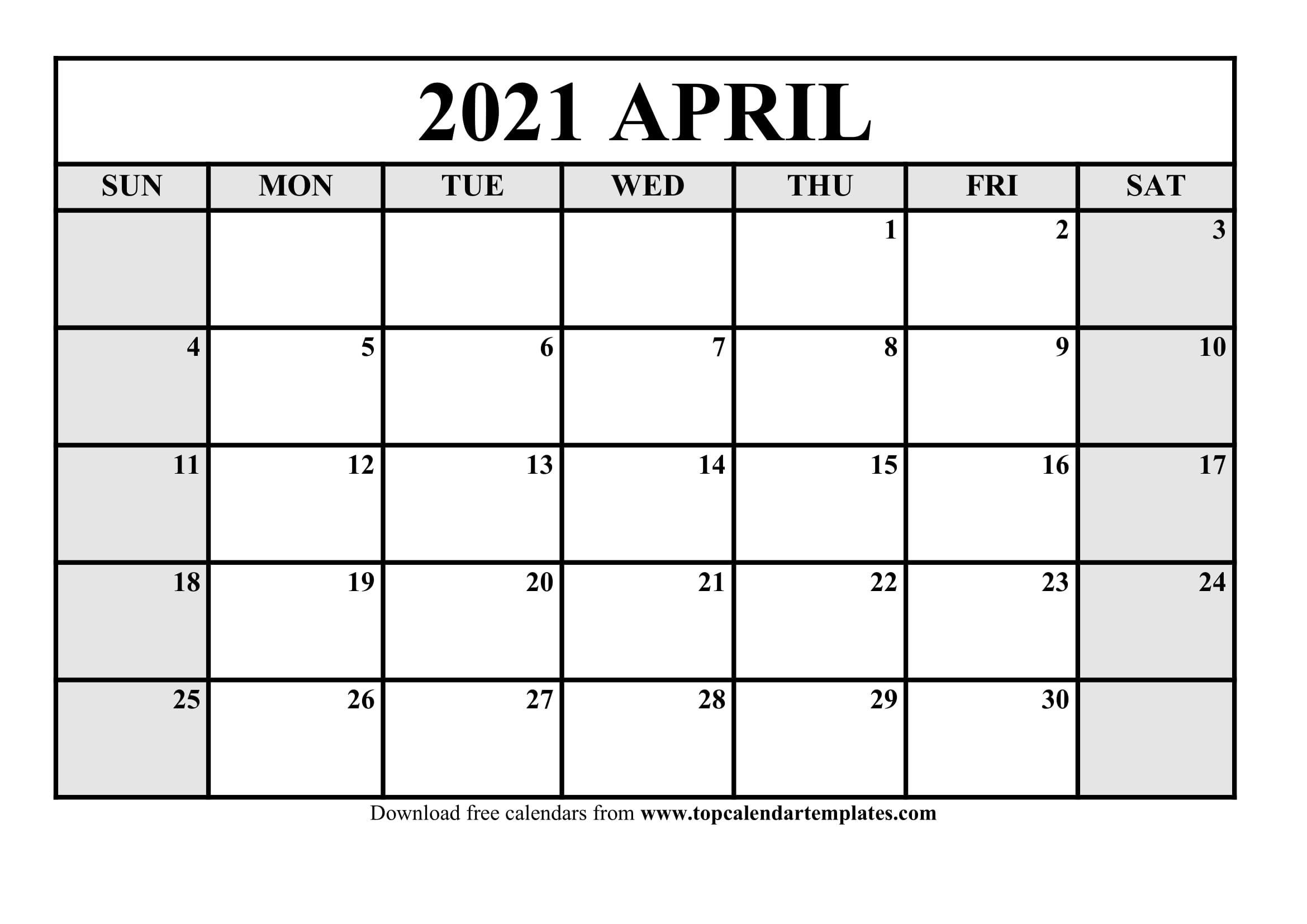 Even though we've flipped the page on a n. Free April 2021 Calendar Printable - Monthly Template