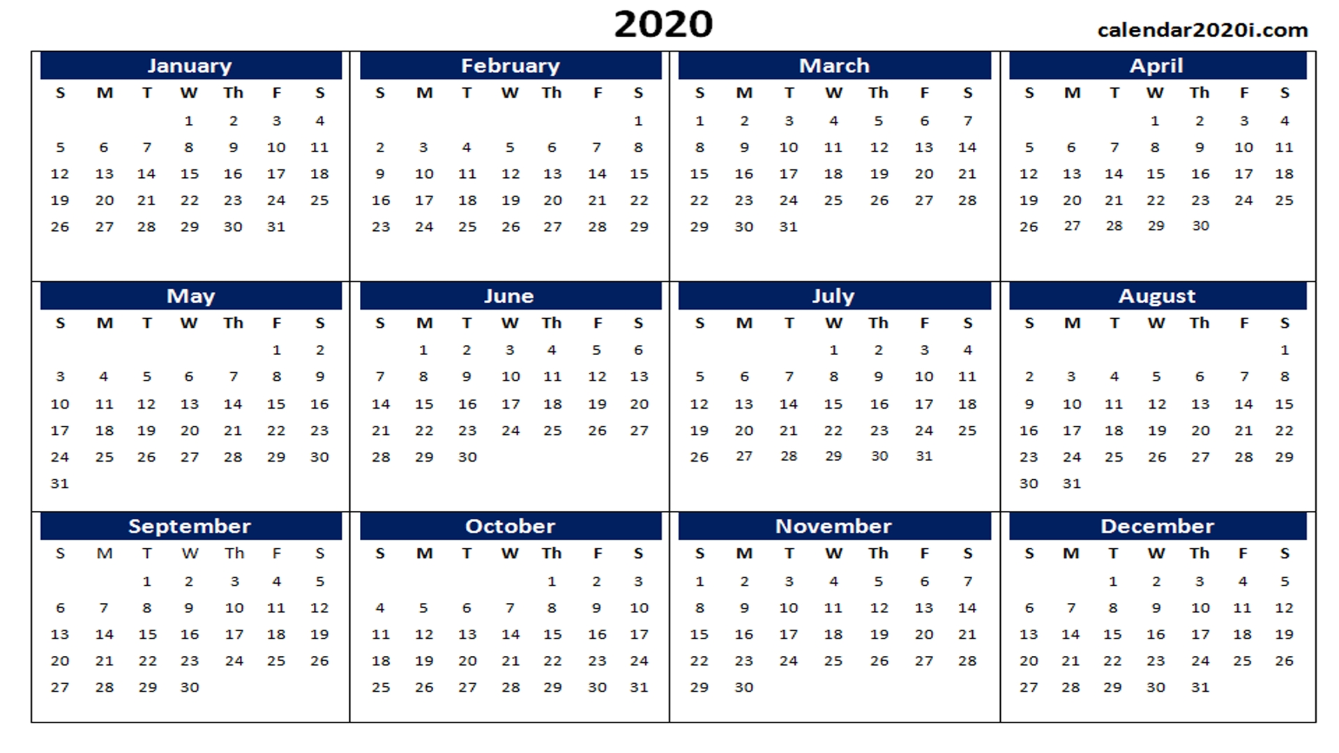 Printable Google Calendar 2020 | Month Calendar Printable