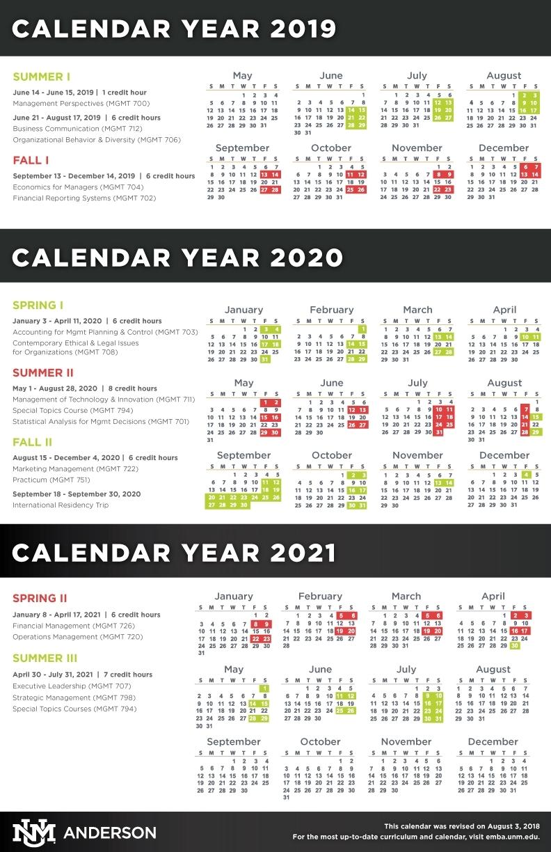 10 Year Calendar Unm | Month Calendar Printable