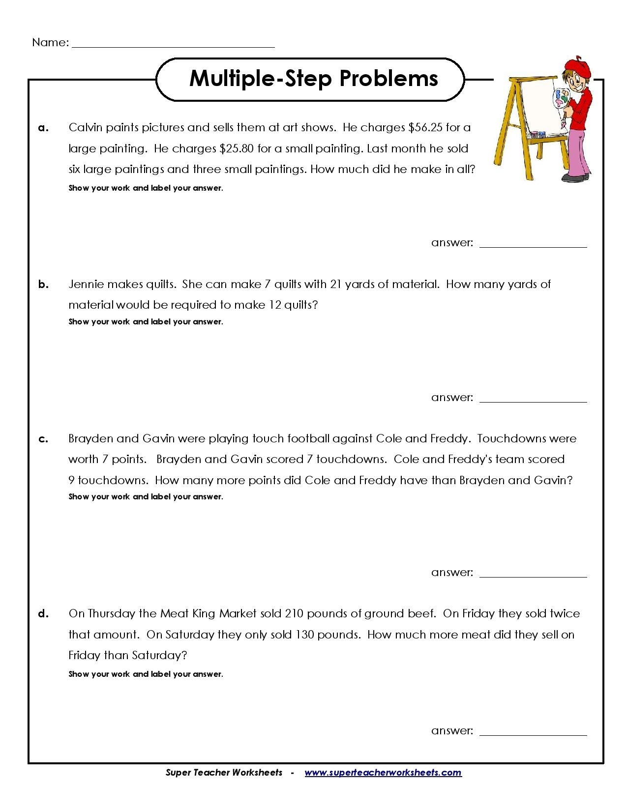 Year 4 Calendar Worksheets