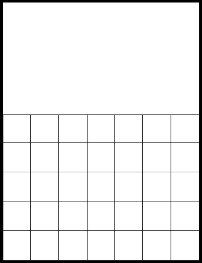 Download and print this blank 2021 monthly calendar template with easy to write in large boxes in landscape layout. Free Printable Large Grid Calendar   Month Calendar Printable