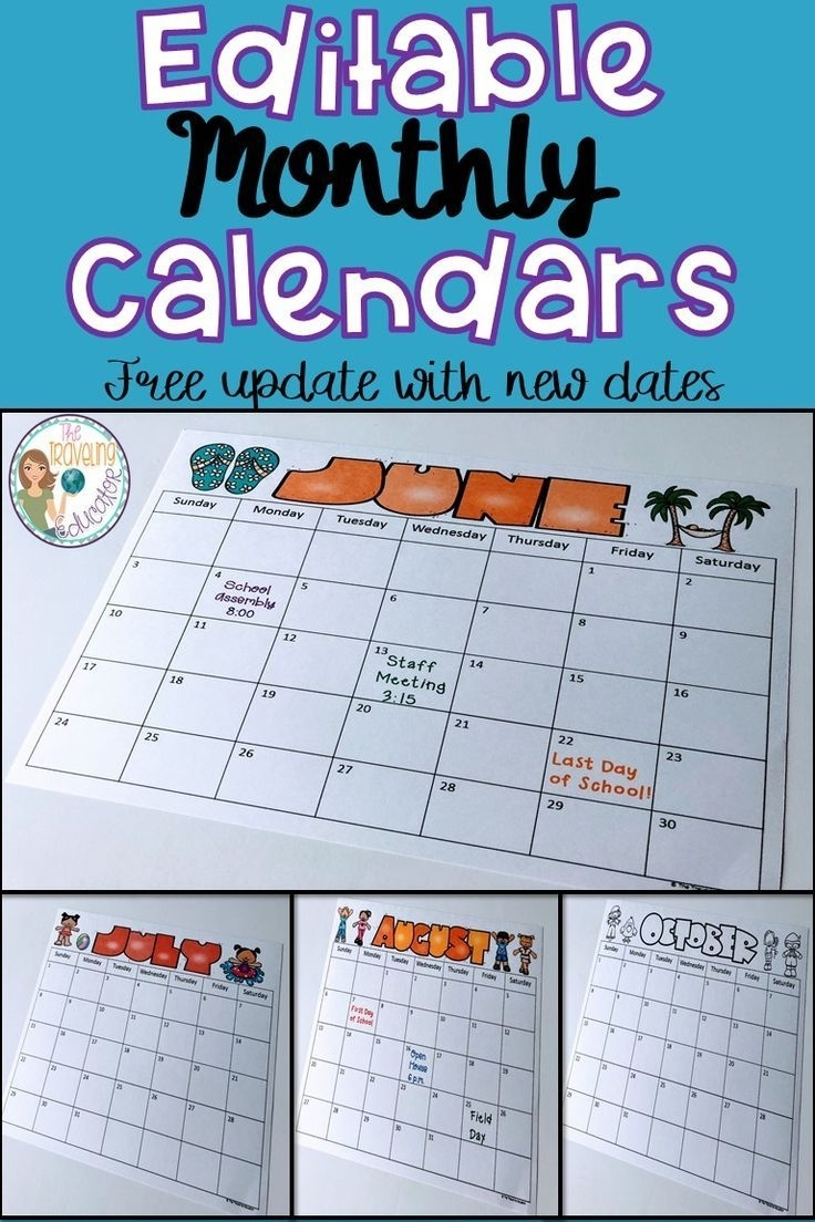 Free Printable Calendars For First Grade | Month Calendar ...