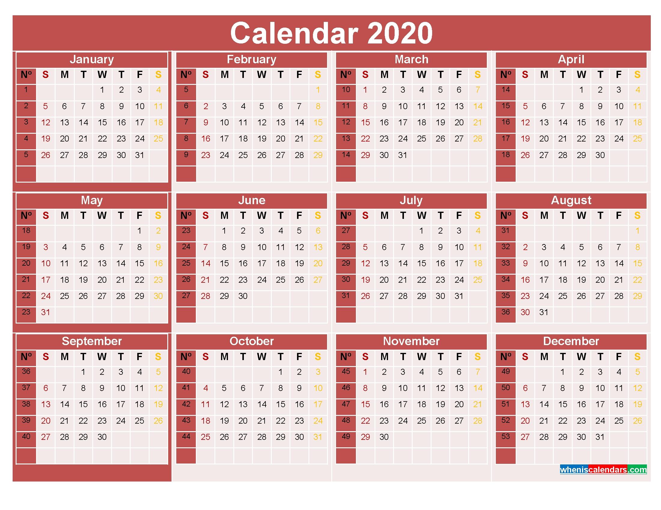 Printable Calendar 8 Weeks | Month Calendar Printable