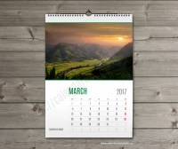 Wall calendar 2019 template. Monthyly & yearly wall custom ...