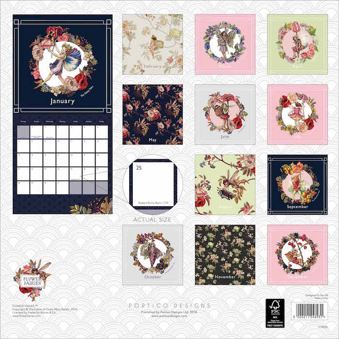 Flower Fairies Square Wall Calendar 2019 Calendar Shop