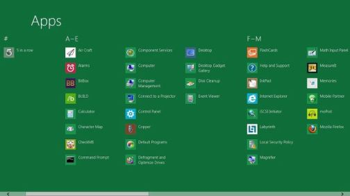windows 8 apps search
