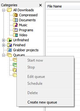 create scheduled download idm