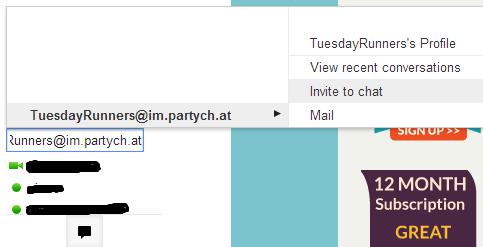 Party chat in google talk
