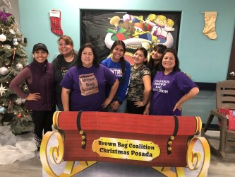 Brown Bag Coalition at the organization's annual posada