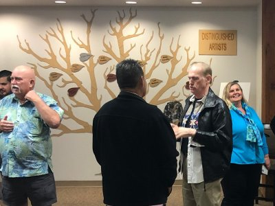 Artists Honored in Leaf Unveiling at Carmen Durazo Center