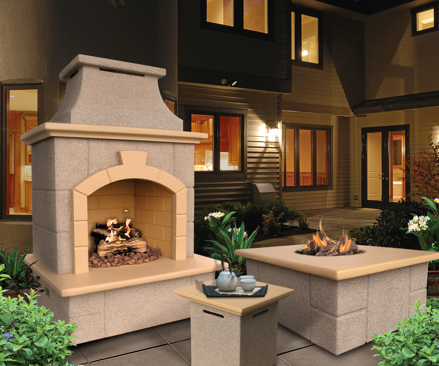 Cal Flame Outdoor Fire Collection