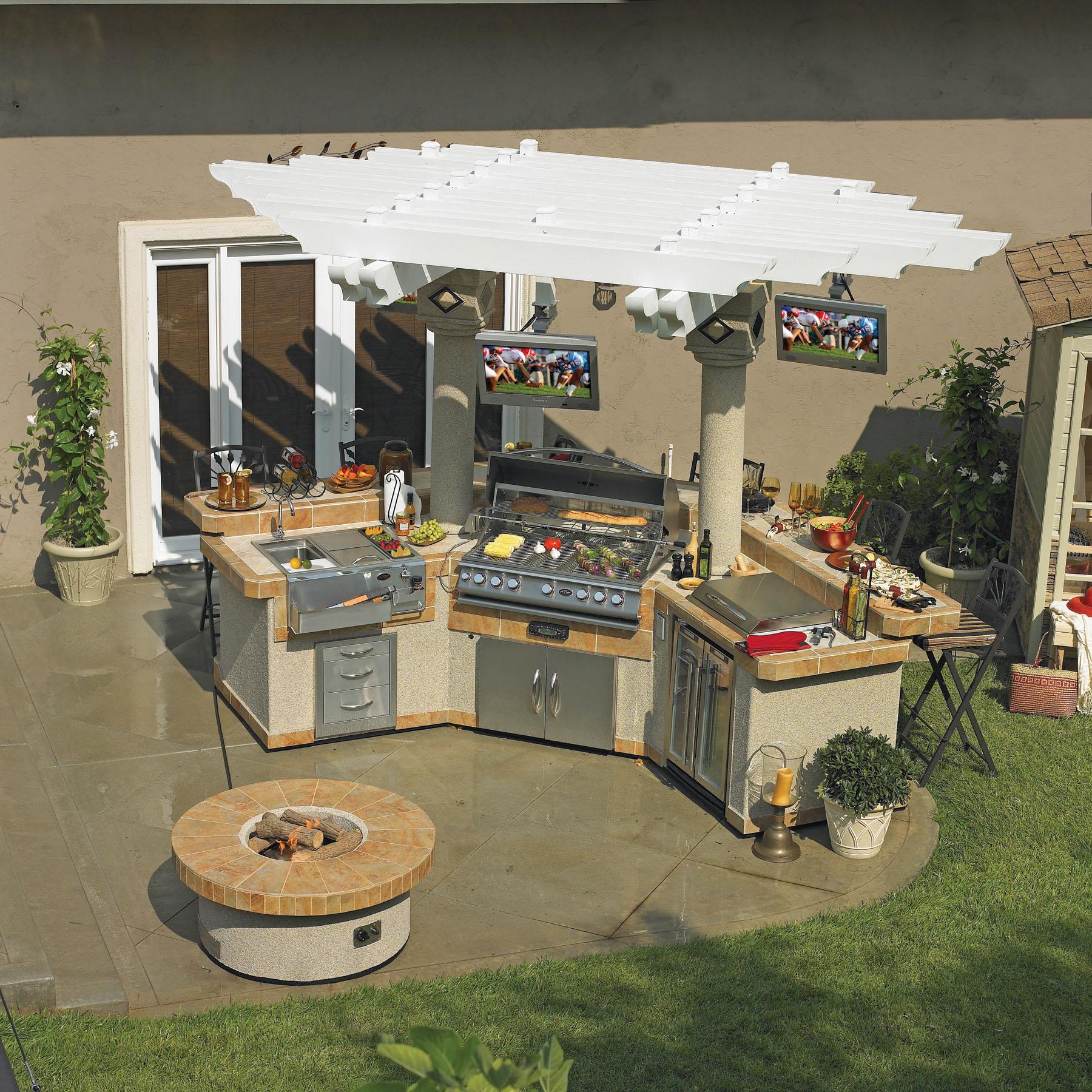 complete outdoor kitchen kits green backsplash cal flame blog