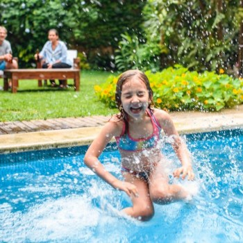 Luxury Vinyl Planks are the best flooring for summer pool party hosts