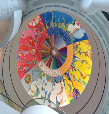 "The ""Morning Star"" Painting, painted on the roof of the Canadian Museum of History."