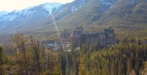 Fairmont Banff Springs Hotel in March