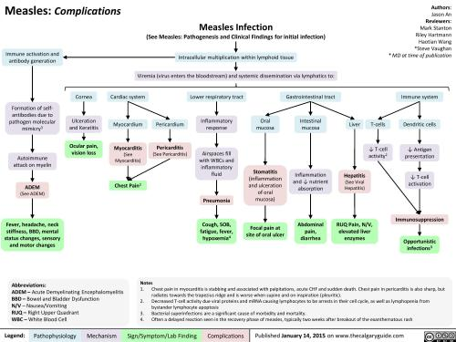 small resolution of complications of measles pathogenesis and clinical findings