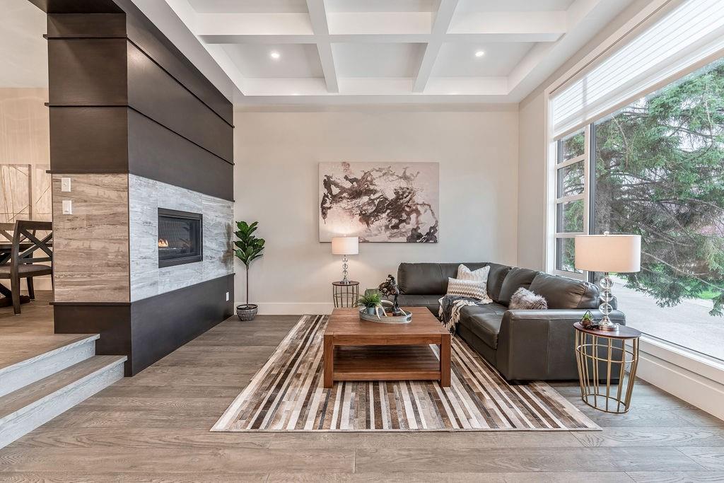 wainscotting calgary inner city infill - living room