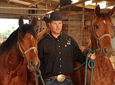 Jordie Fike and horses.