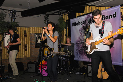 The Michael Wood Band has a certain energy they bring to the stage that is contagious. With a mix of cover songs and originals, this indie rock band is fun to watch and listen to.