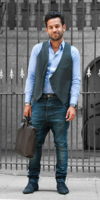 - Waistcoats (vest) with jeans and a collared shirt will be a popular look for men this coming fall. Photo courtesy of Amsterdam Museum-flickr.com