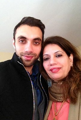 Aleem with his mother