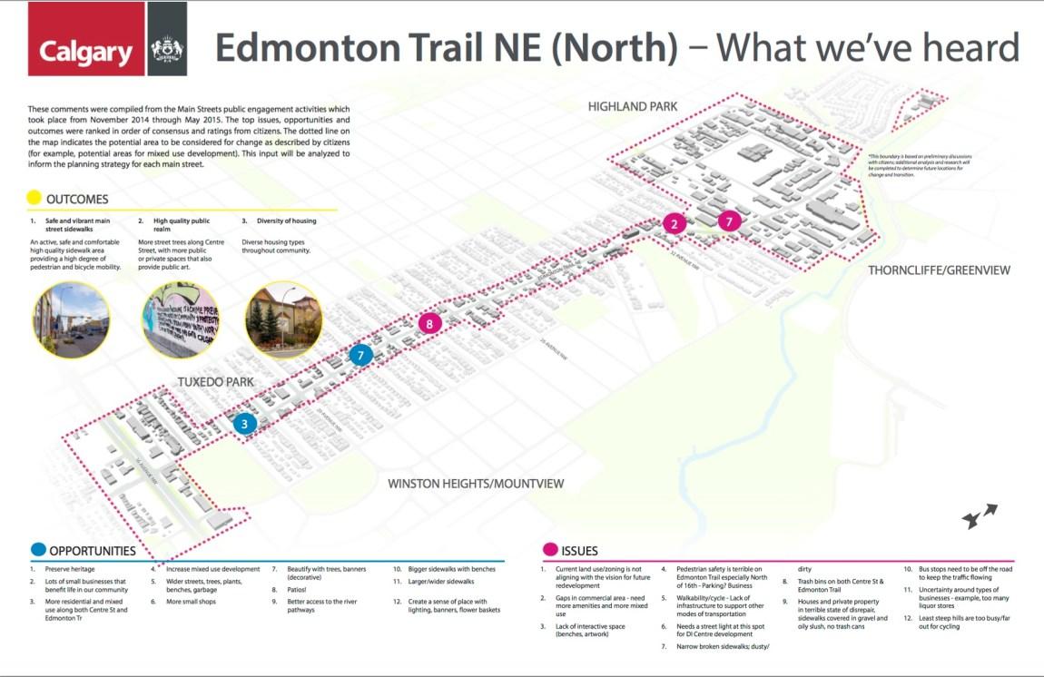 Edmonton Trail NE North What weve heard