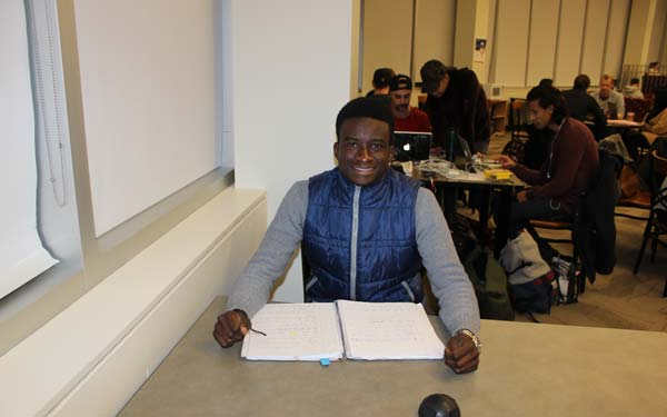 Mugenyi Banage, an international student at Mount Royal University says that he feels the need to study really hard so that the high fees his parents pay do not go to waste.