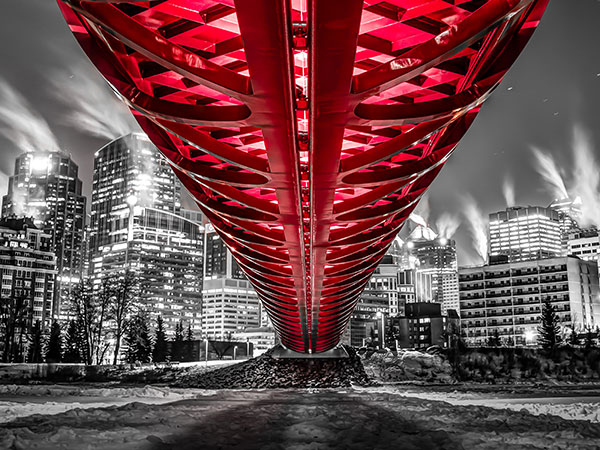This photo of peace bridge in Calgary's downtown started earning Zeller a bit of critical acclaim for his camera work. Photo courtesy of Neil Zeller.