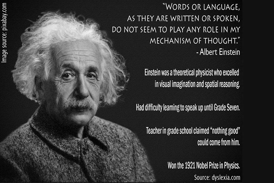 eisntein dyslexia