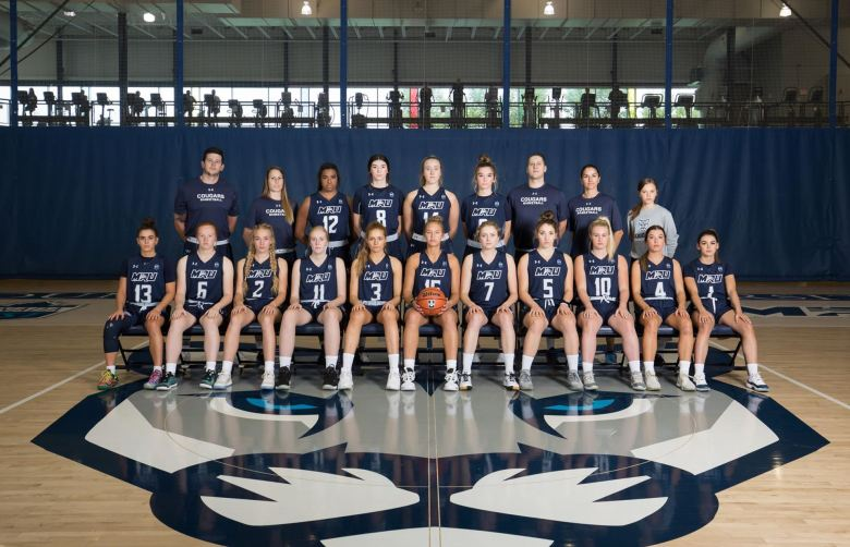 The MRU women's basketball teams looks to bounce back after a tough streak during pre-season, losing five games in a row. Photo credit: Cougar Athletics