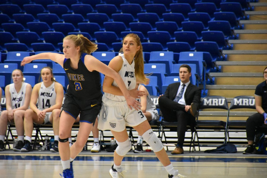 The women's basketball had a big 66-64 win at home against the University of Victoria on Nov. 29. Photo credit: Sajan Jabbal