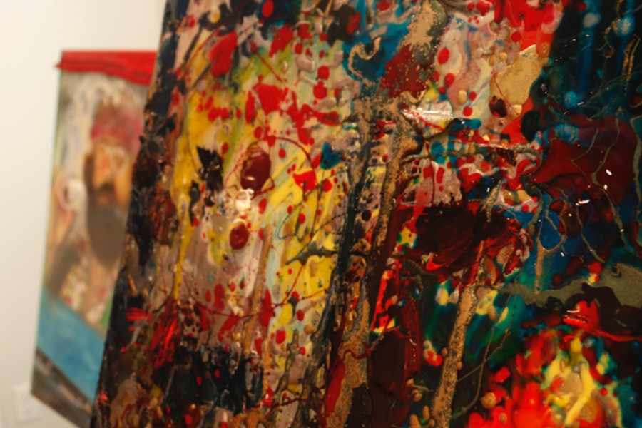 A up-close shot of Tutty's painting, although it is messy it still is a masterpiece of his. Photo by Liv Klein