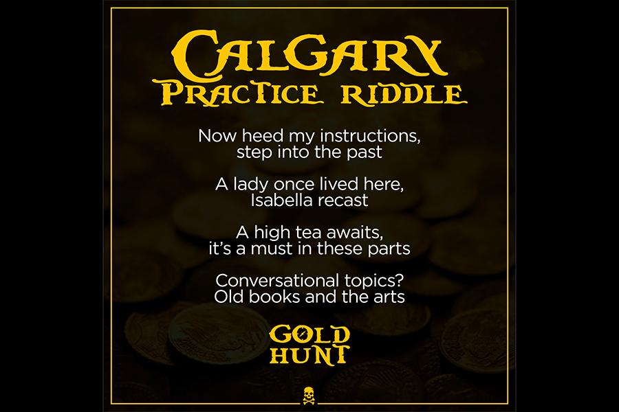 Gold Hunt Practice riddle AL