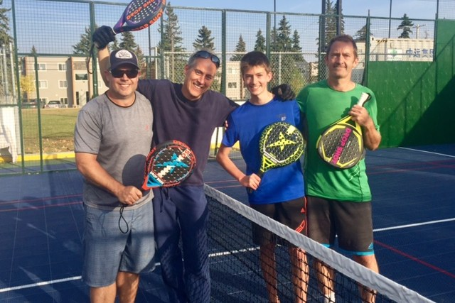 Calgary Padel players ready for the B Semi-final