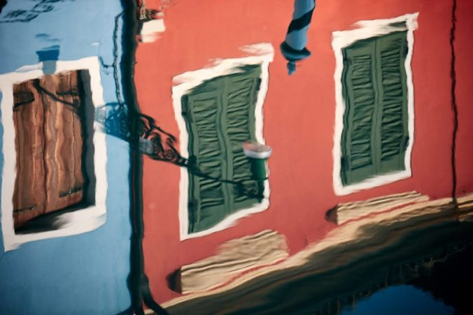 Reflections of Venetian houses